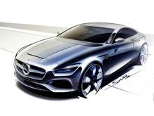 Mercedes показал первые скетчи двухдверного S-класса