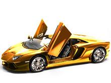 Самый дорогой Lamborghini - позолоченный и с бриллиантами - выставлен на продажу