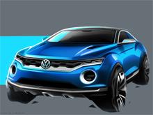 Volkswagen показал концепт субкомпактного кроссовера T-ROC со съемной  крышей