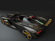 Эмираты показали  изображение  первой модели Dubai Roadster: агрессивно  и патриотично