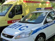 """В Петербурге столкнулись """"скорая"""" с пациентом и эвакуатор"""