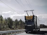"""В  Швеции открыли первое """"электрошоссе"""" для  большегрузов  (ВИДЕО)"""